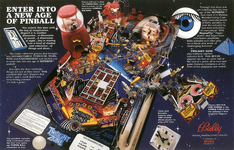 Image result for twilight zone pinball