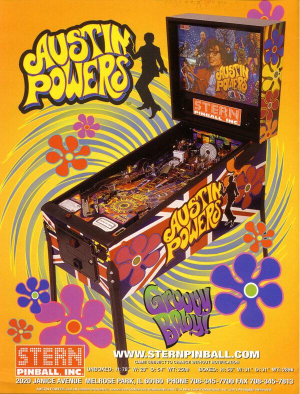 Austin Powers Pinball Flyer