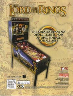 Lord of The Rings LOTR flyer