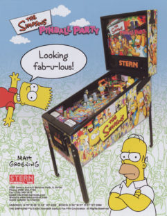 The Simpsons Pinball Party Flyer
