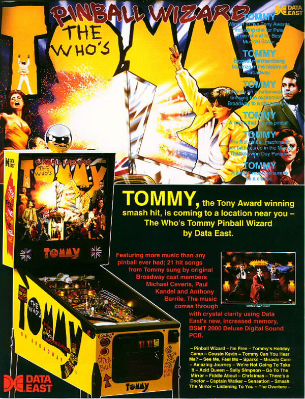 Tommy Pinball Flyer