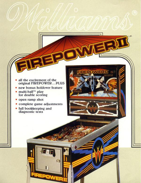 Firepower2 Pinball Flyer
