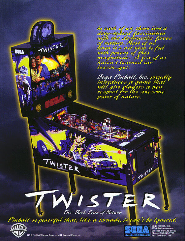Twister Pinball Flyer