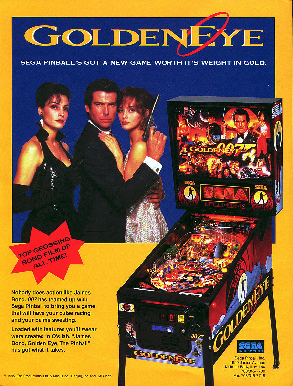 Goldeneye pinball flyer