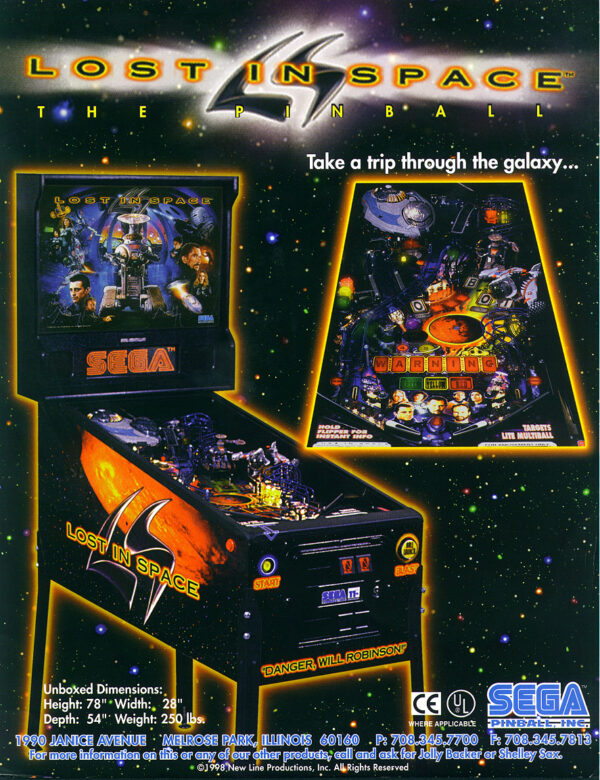 Lost In Space Pinball Flyer